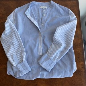 Madewell Blue and White Striped Button Down